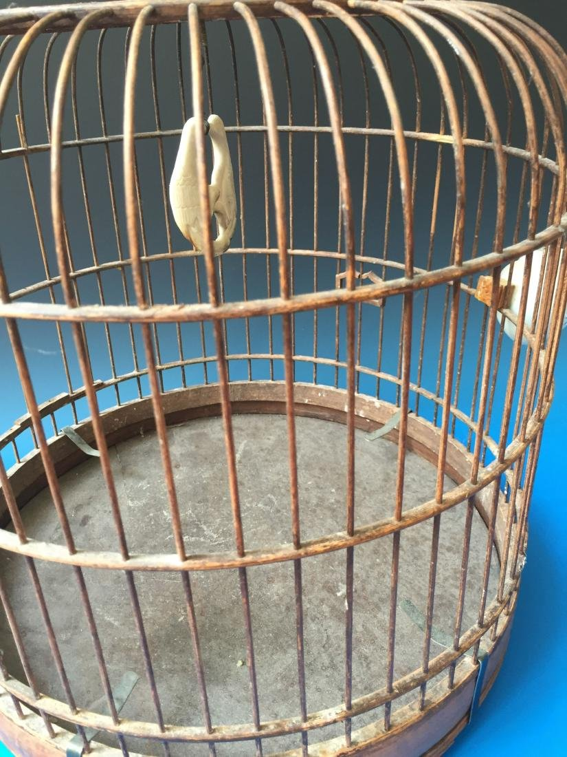 CHINESE ANTIQUE BIRD CAGE - 2