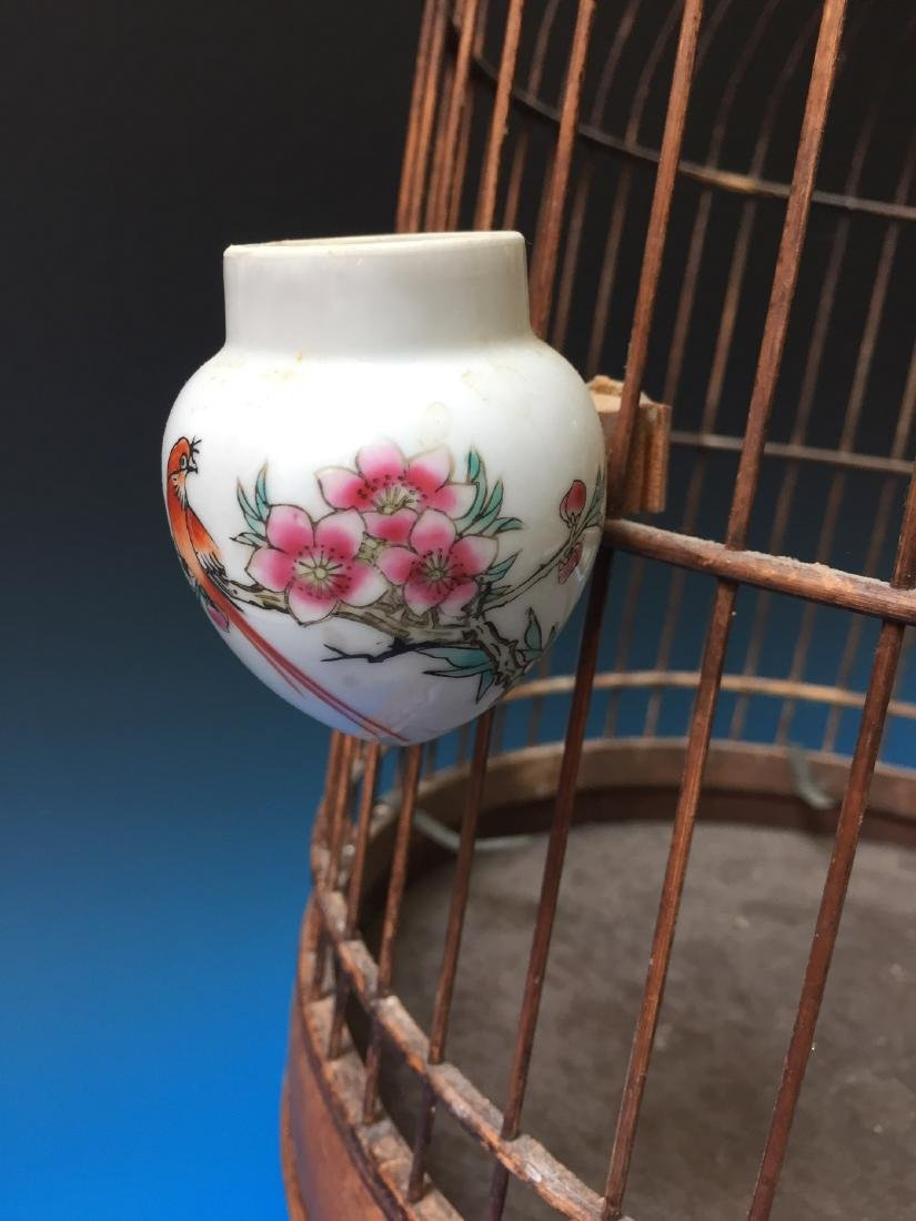 CHINESE ANTIQUE BIRD CAGE - 3
