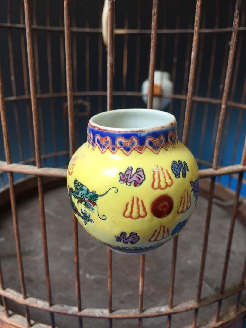 CHINESE ANTIQUE BIRD CAGE - 5