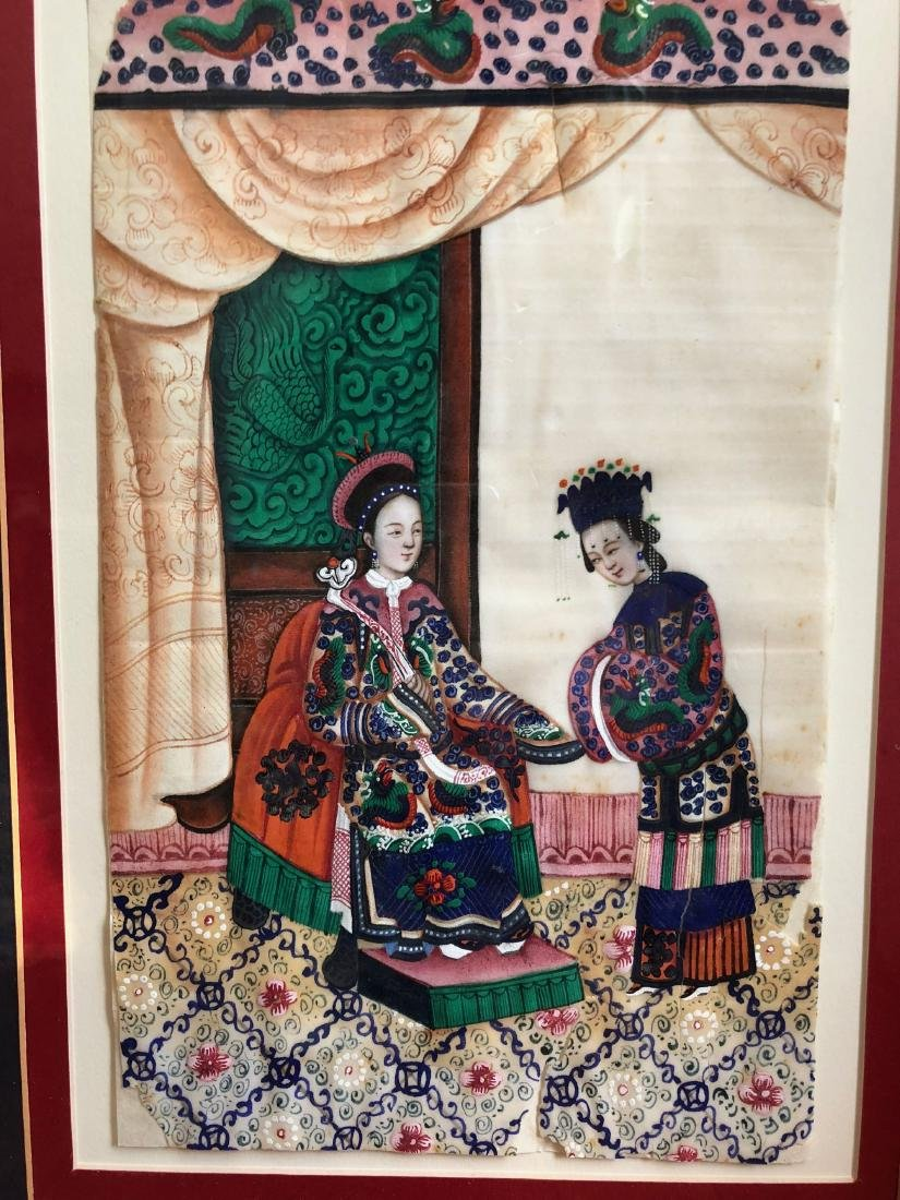 CHINESE ANTIQUE PAINTING WITH FRAME