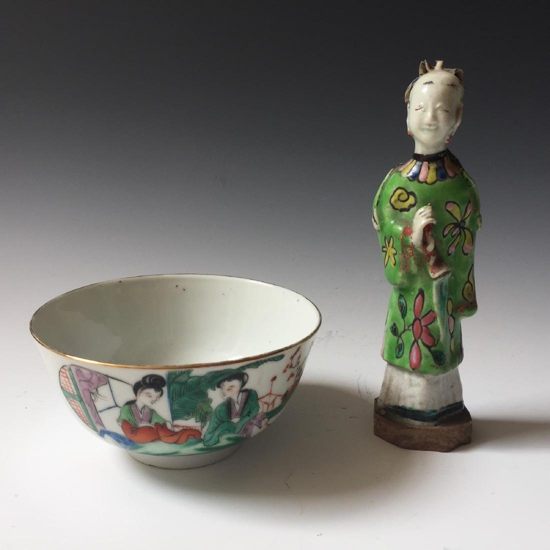 A SET OF CHINESE ANTIQUE FAMILLE ROSE PORCELAIN BOLW