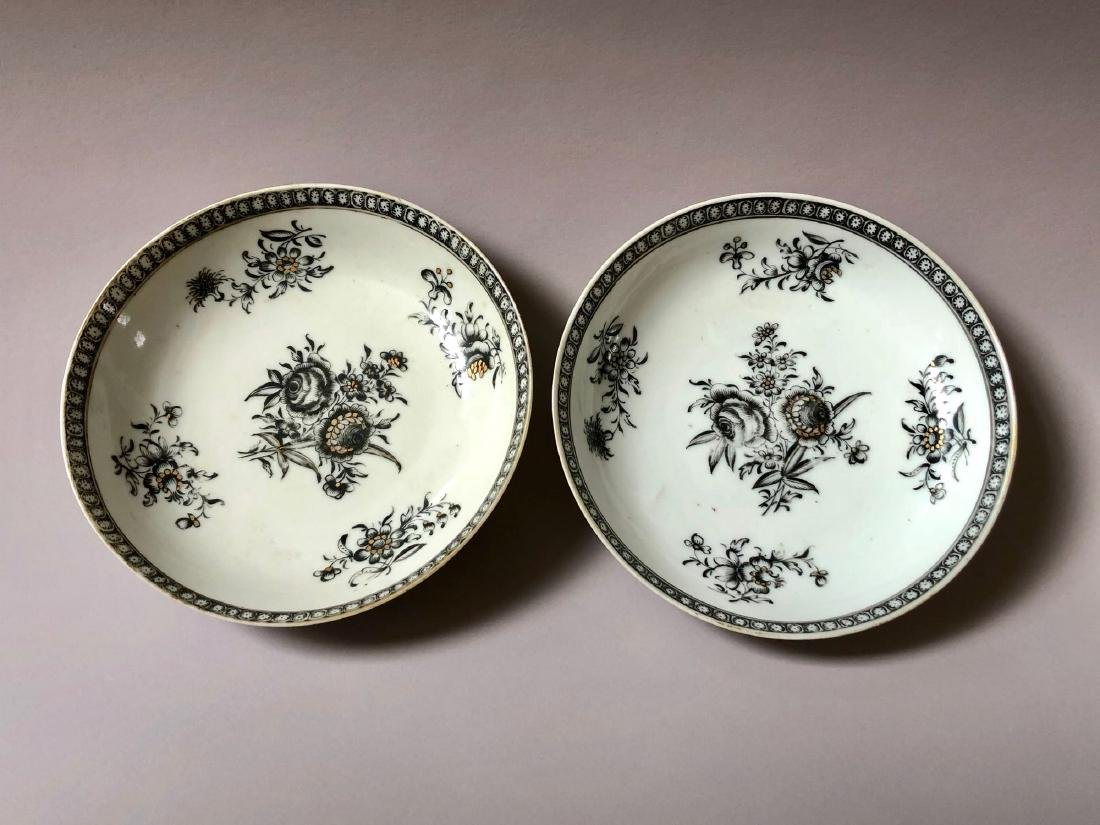 TWO OF CHINESE ANTIQUE EXPORT PORCELAIN DISHES,18C