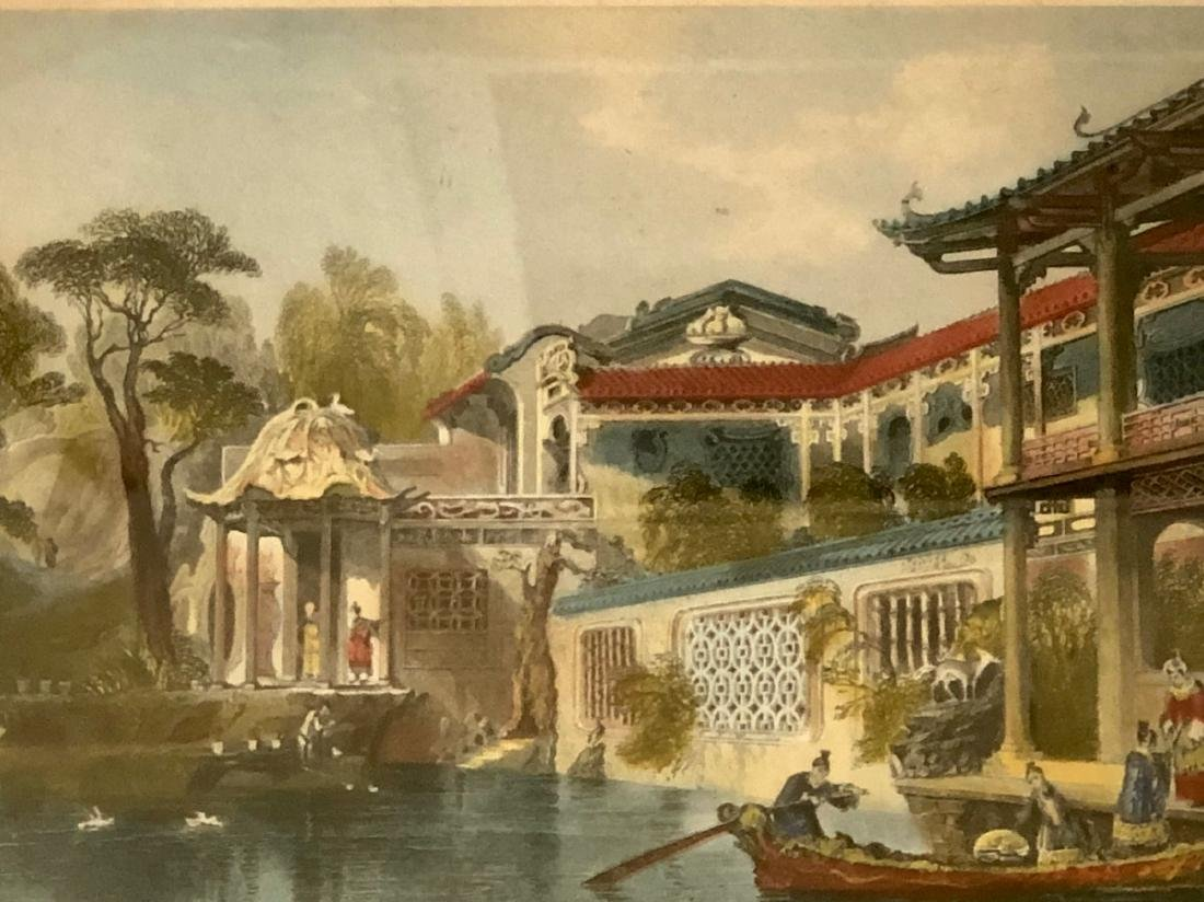 A PAIR OF CHINESE  LANDSCAPE ETCHINGS ENGRAVED BY - 4
