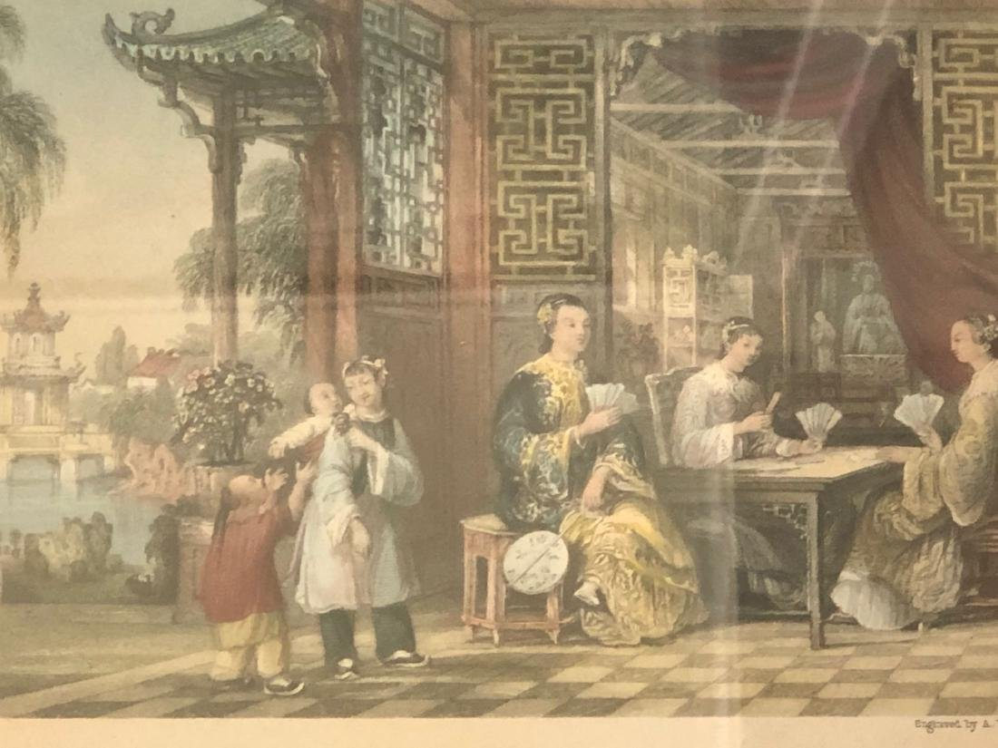 A PAIR OF CHINESE  LANDSCAPE ETCHINGS ENGRAVED BY - 5