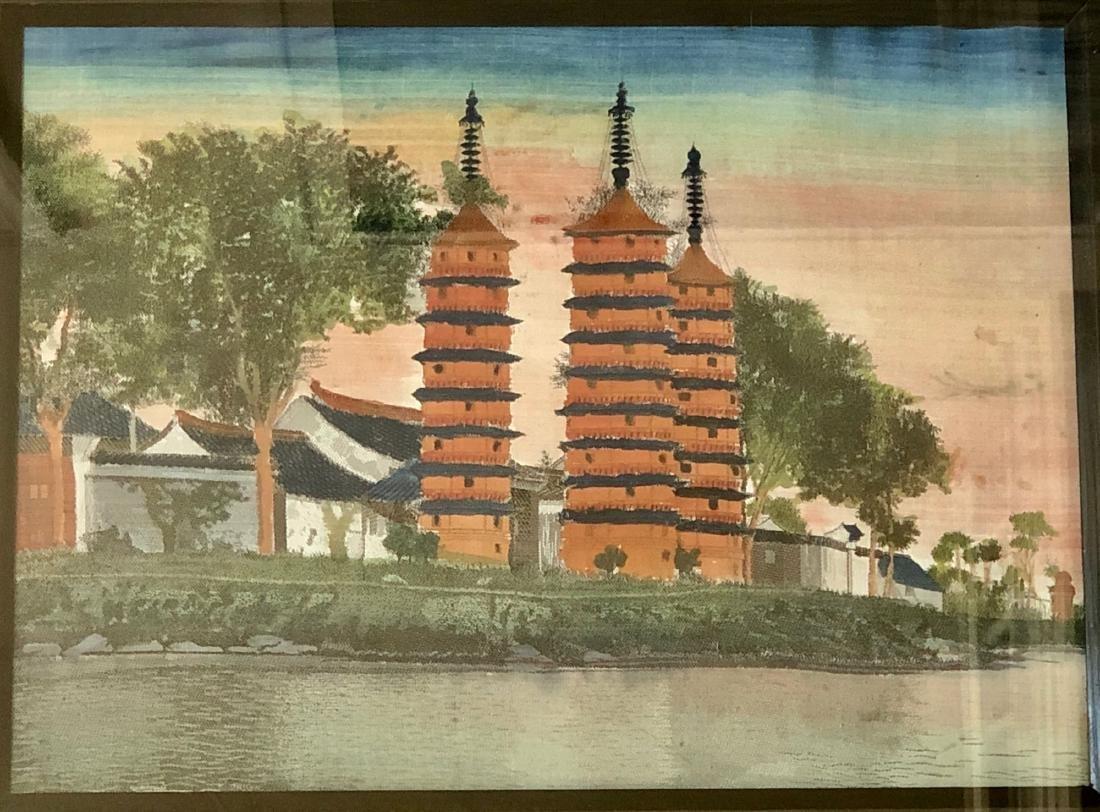 CHINESE OLD HANDMADE FABRIC - 2