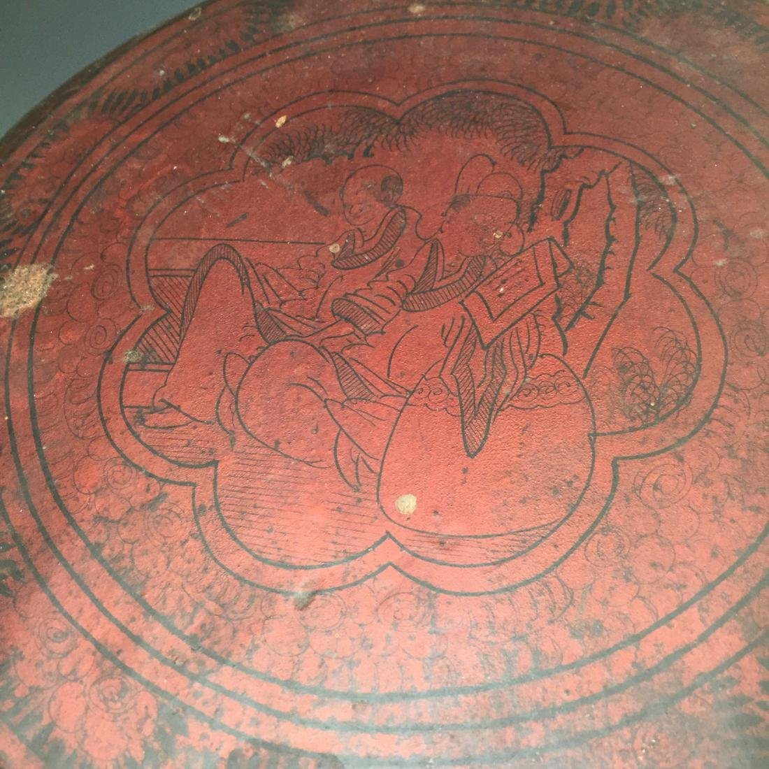 CHINESE ANTIQUE LACQUER BOX - 3
