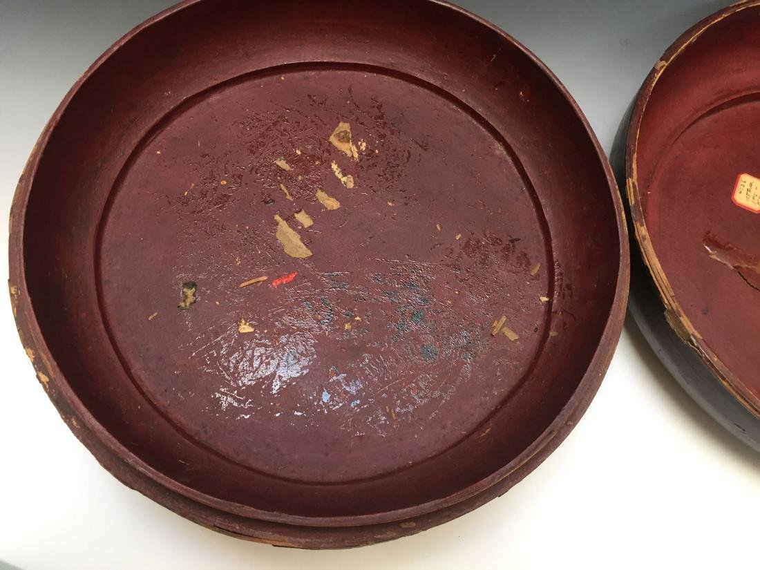 CHINESE ANTIQUE LACQUER BOX - 6