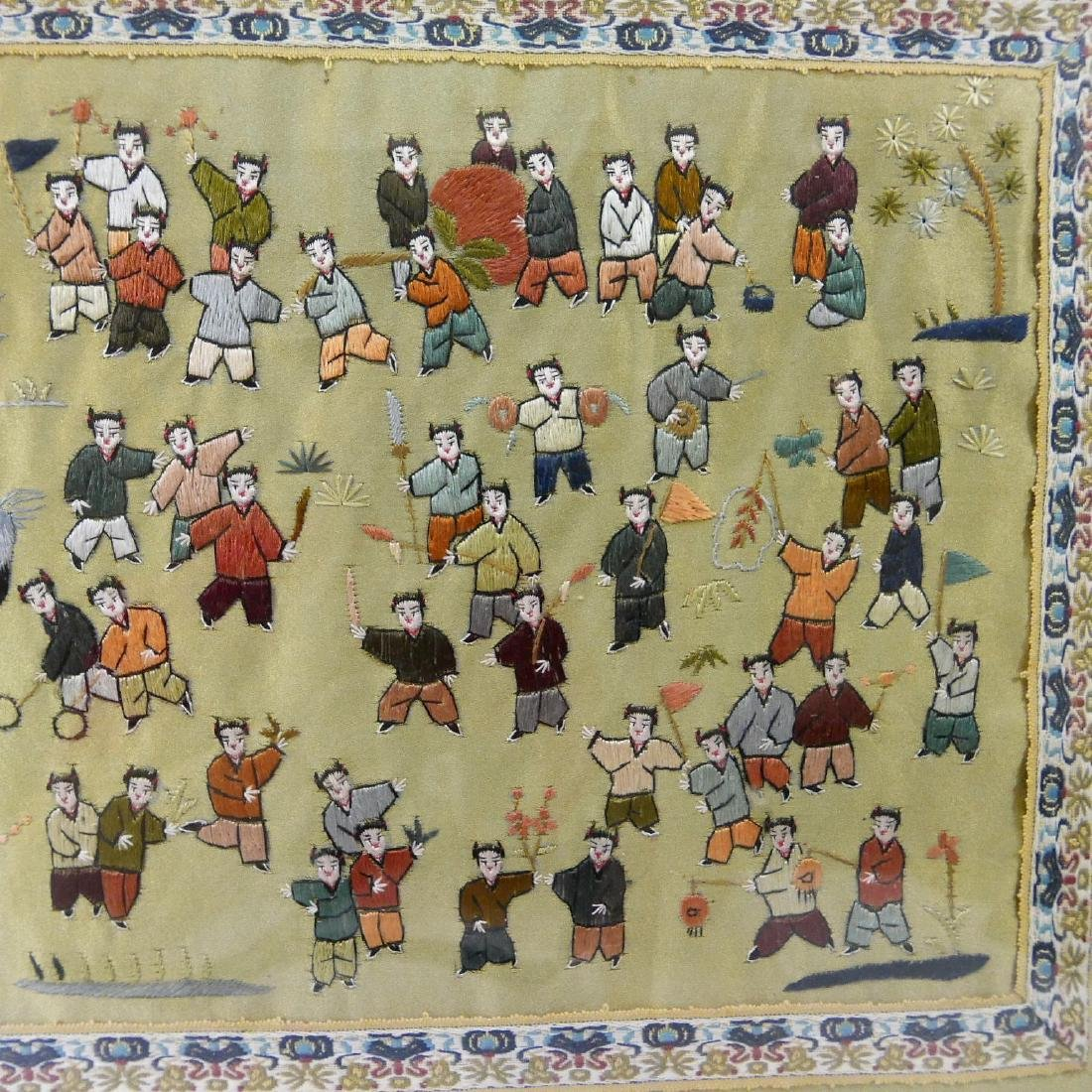 VINTAGE CHINESE SILK EMBROIDERY OF CHILDREN - 4