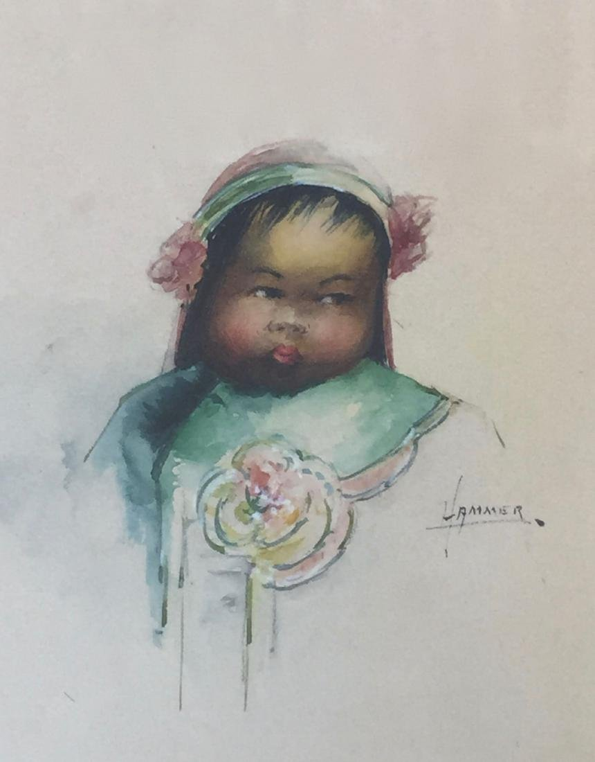 OLD WATERCOLOR PAINTING - 2