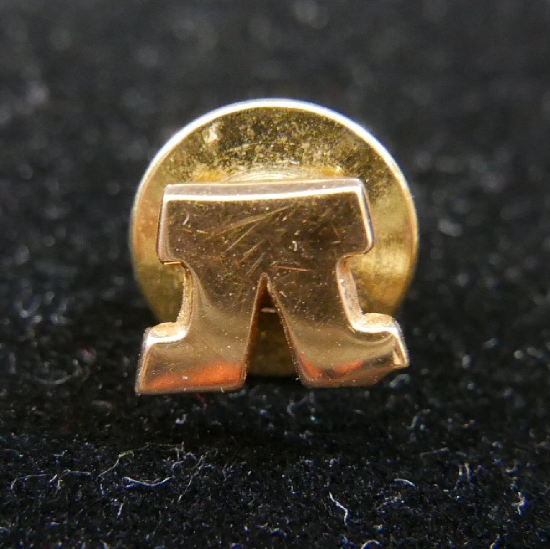 """14K GOLD FRATERNAL ORDER """"V"""" LAPEL PIN"""