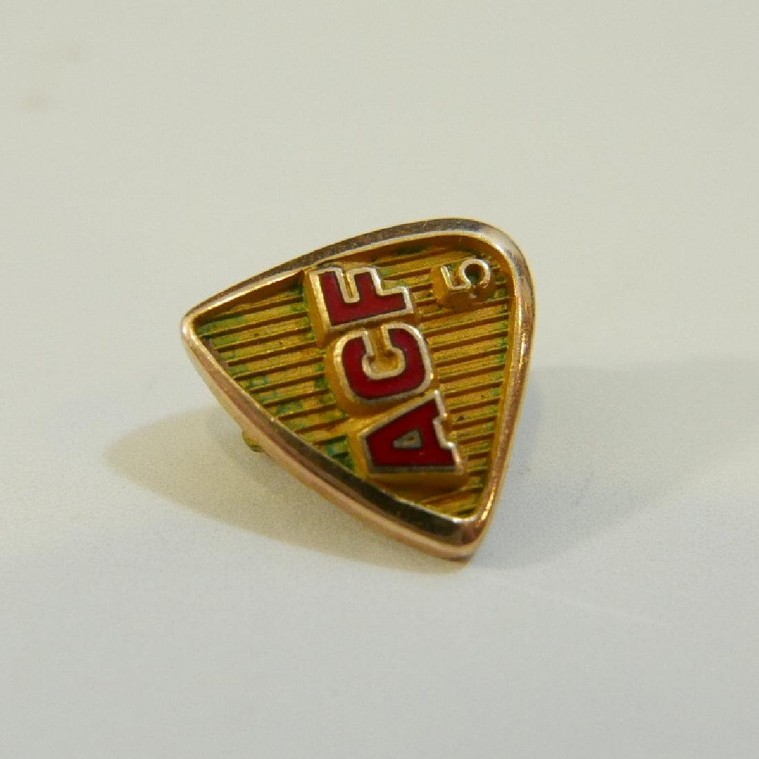 14K GOLD FRATERNAL ORDER LAPEL PIN - 4
