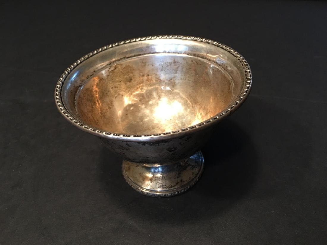 "ANTIQUE Silver Sterling High footed Bowl, 4 1/4"" wide,"