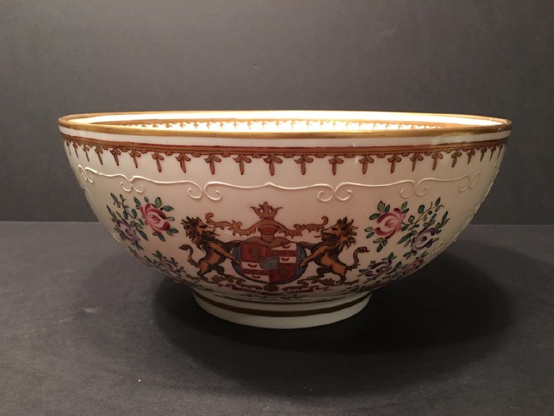 ANTIQUE Mason Punch Bowl, Porcelain de paris. 19th