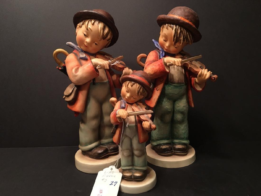 "Three Vintage Hummel Figurines, #2 ""Little Fiddler"""