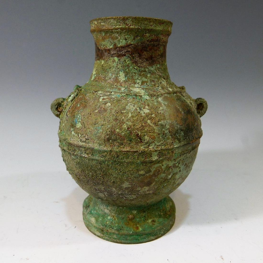 ANTIQUE CHINESE BRONZE HU - HAN DYNASTY
