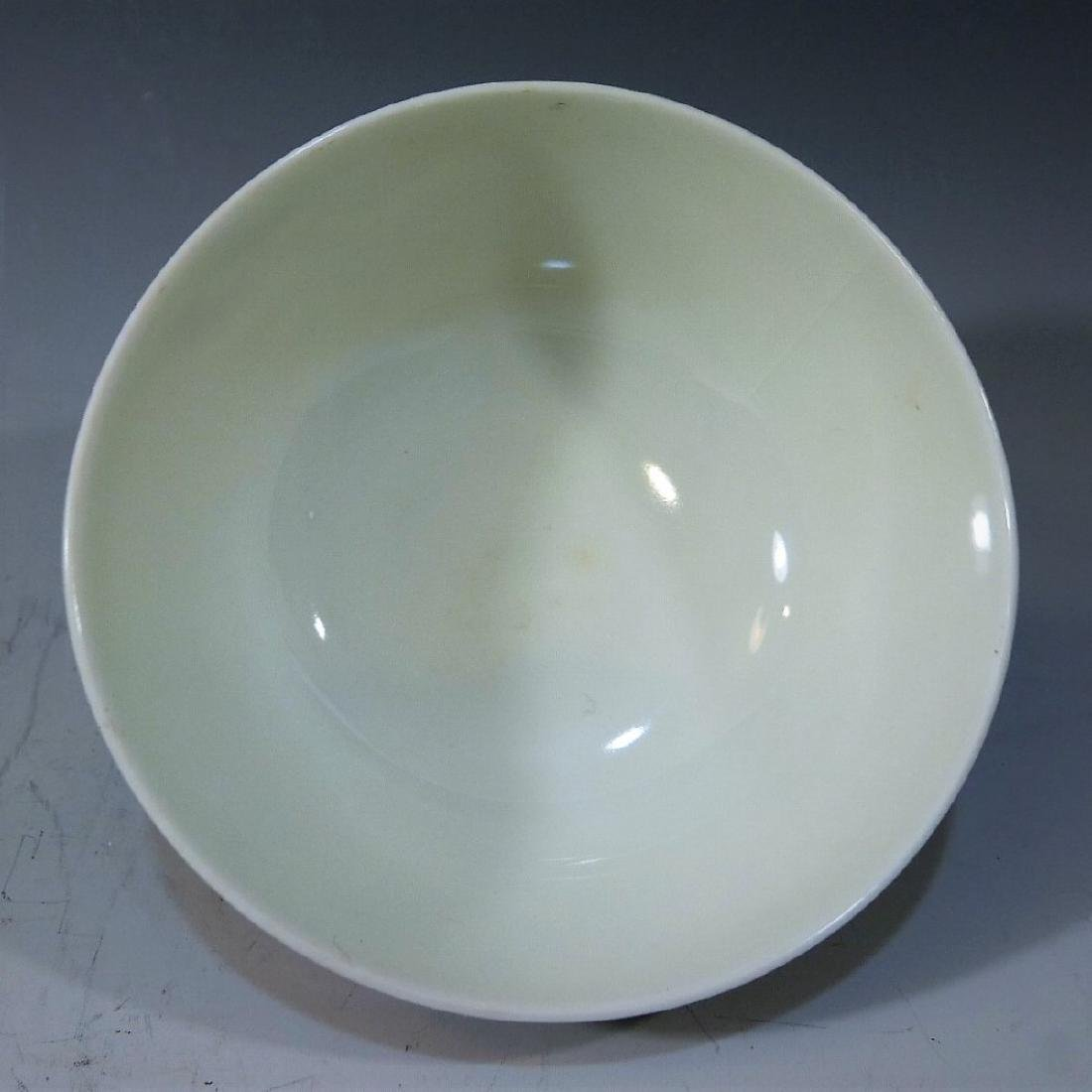 CHINESE ANTIQUE DOUCAI PORCELAIN BOWL - YONGZHENG MARK - 4