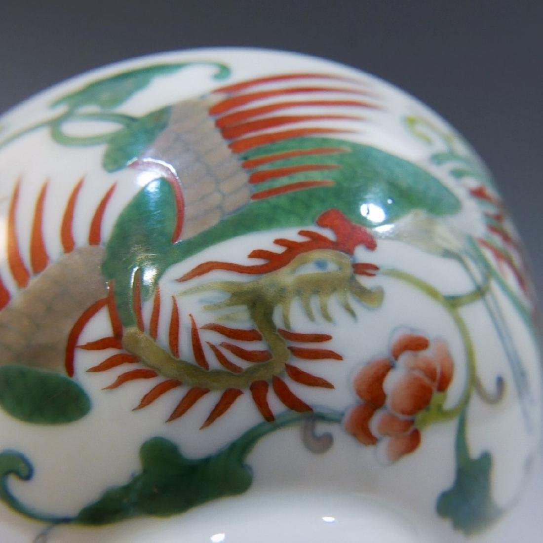 CHINESE ANTIQUE DOUCAI PORCELAIN BOWL - YONGZHENG MARK - 5