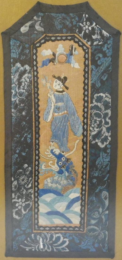 ANTIQUE CHINESE SILK EMBROIDERY - 19TH CENTURY
