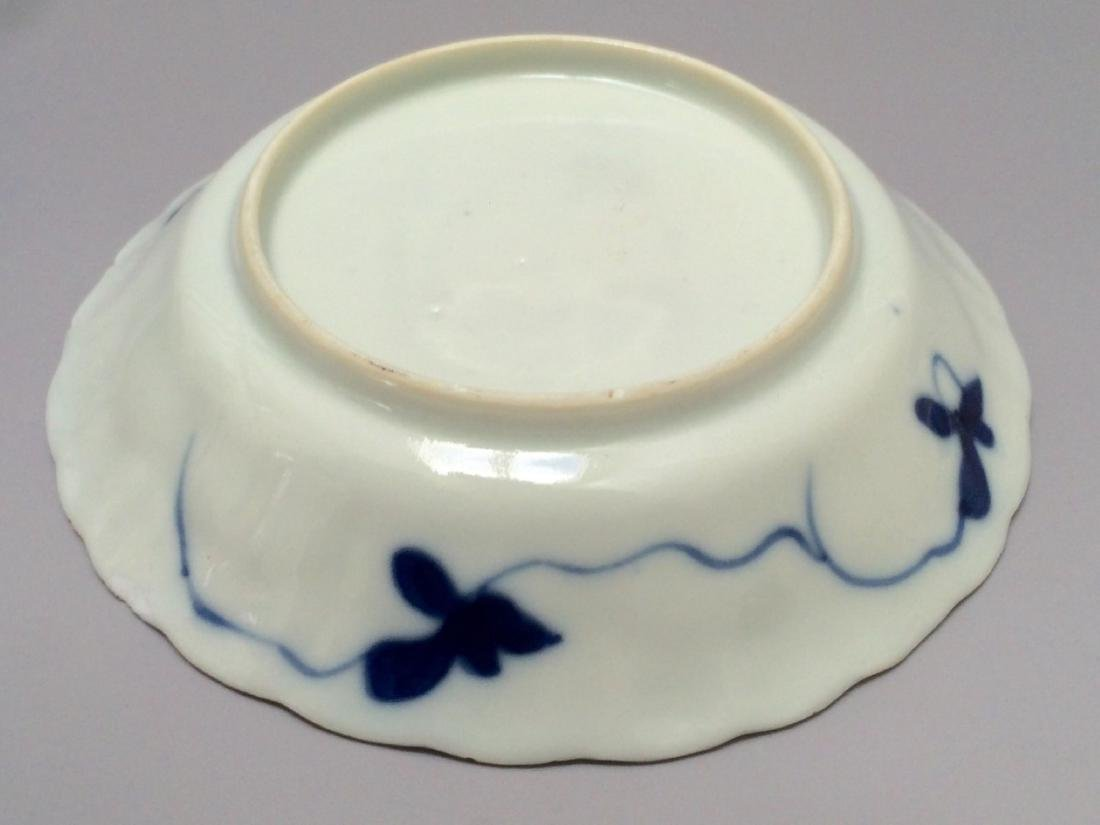 PAIR OF BLUE AND WHITE PLATES,18TH - 3