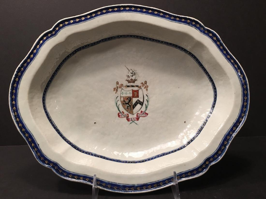 ANTIQUE Chinese Armorial Soup Bowl, 18th century - 4