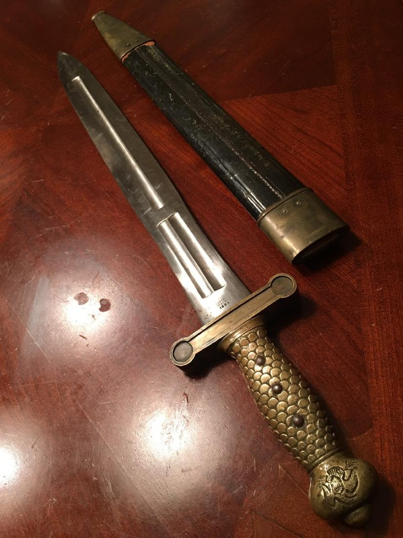 ANTIQUE M1832 Military Artillery Foot Sword, dated 1833 - 7
