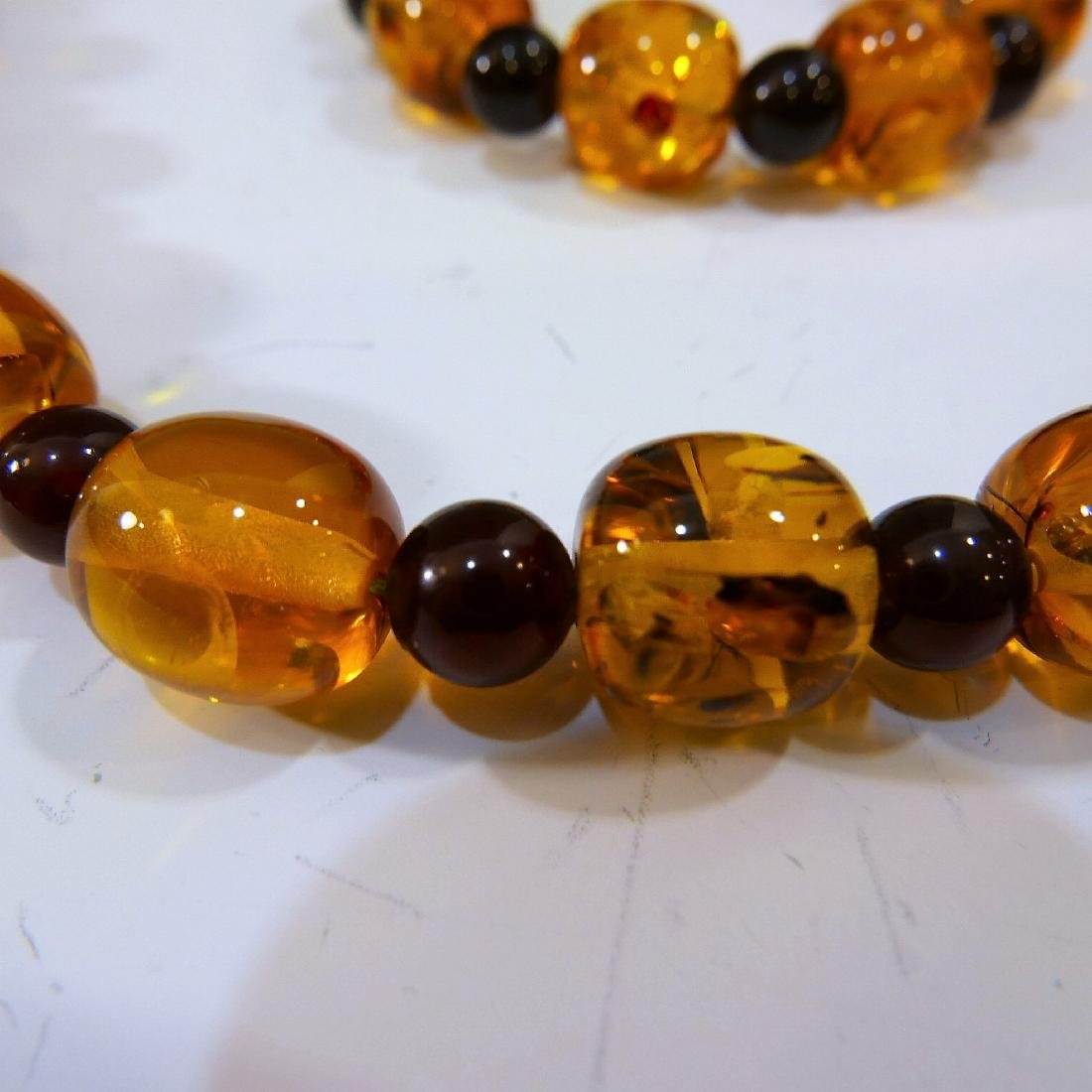NATURAL AMBER BEADS NECKLACE - 2