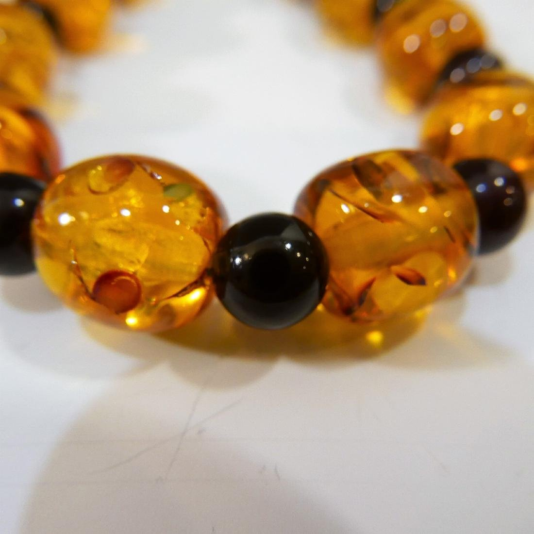 NATURAL AMBER BEADS NECKLACE - 3