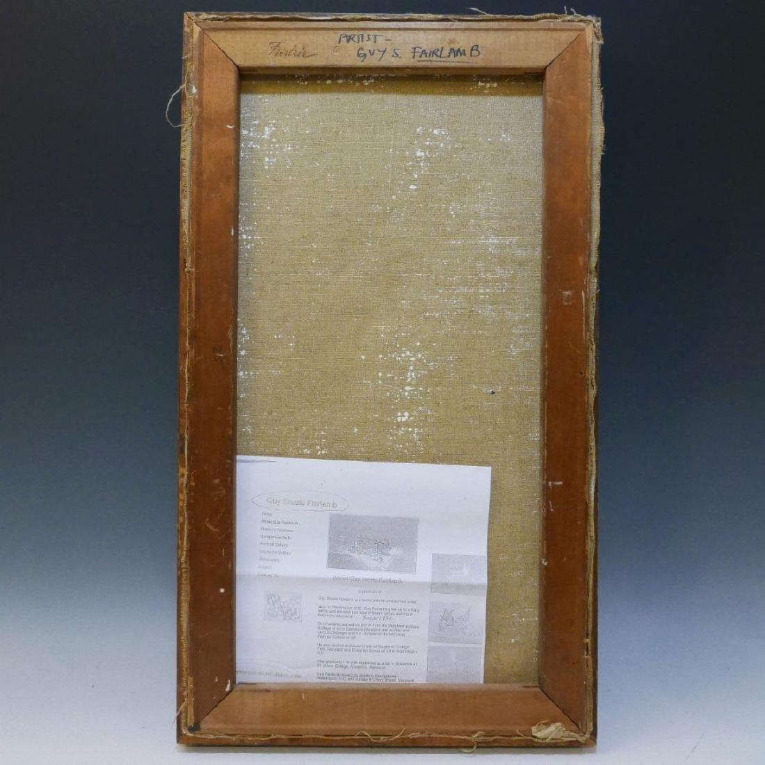 GUY STEELE FAIRLAMB (AMERICAN B.1932) NUDE OIL PAINTING - 6