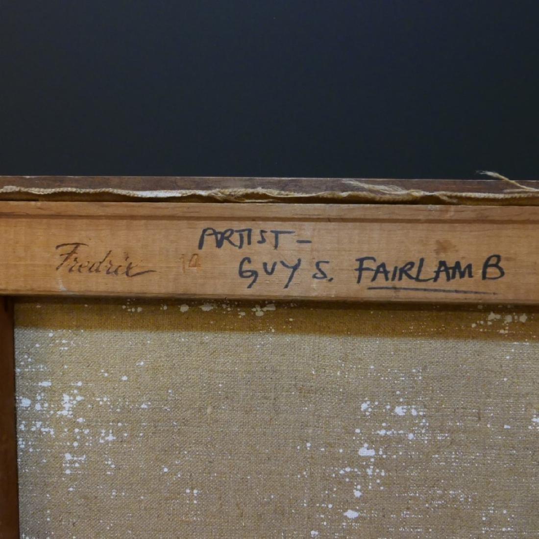 GUY STEELE FAIRLAMB (AMERICAN B.1932) NUDE OIL PAINTING - 7