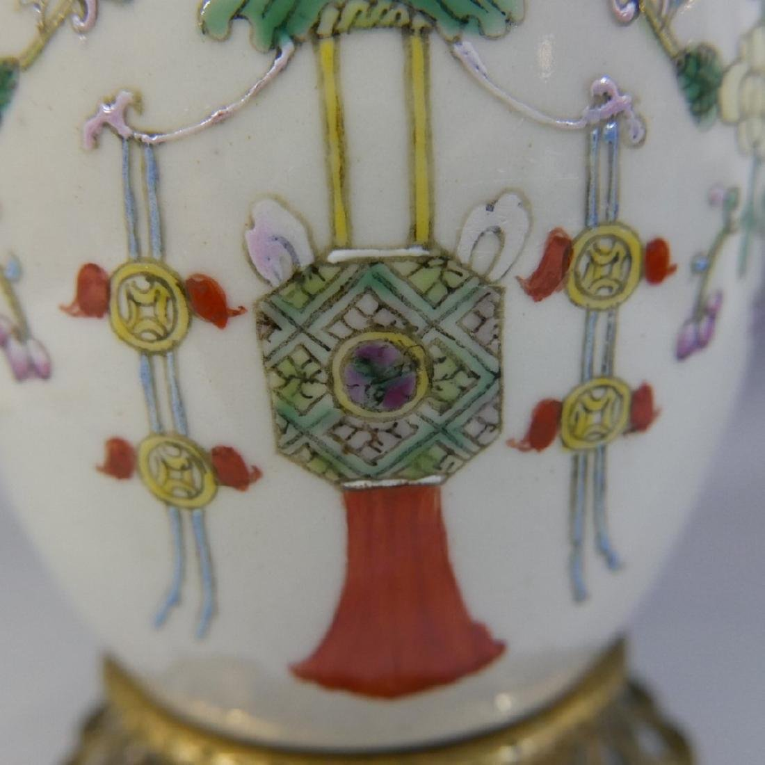 ANTIQUE CHINESE FAMILLE ROSE PORCELAIN VASE - QING - 3