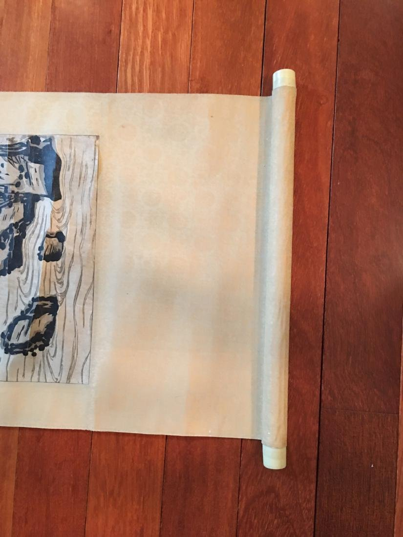 OLD Chinese Watercolor painting with birds and flowers, - 5