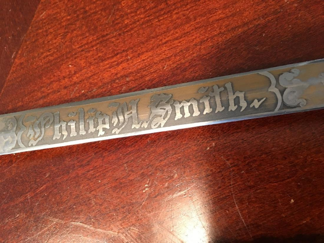 ANTIQUE Civil War period Sword with Crown - 10