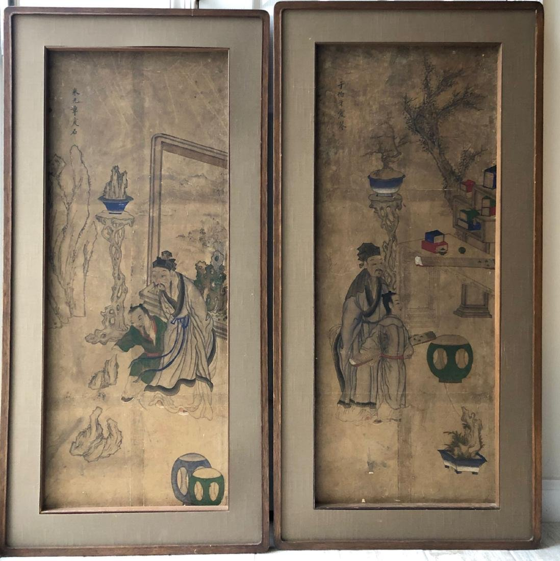 A PAIR OF CHINESE  ANTIQUE PAINTING