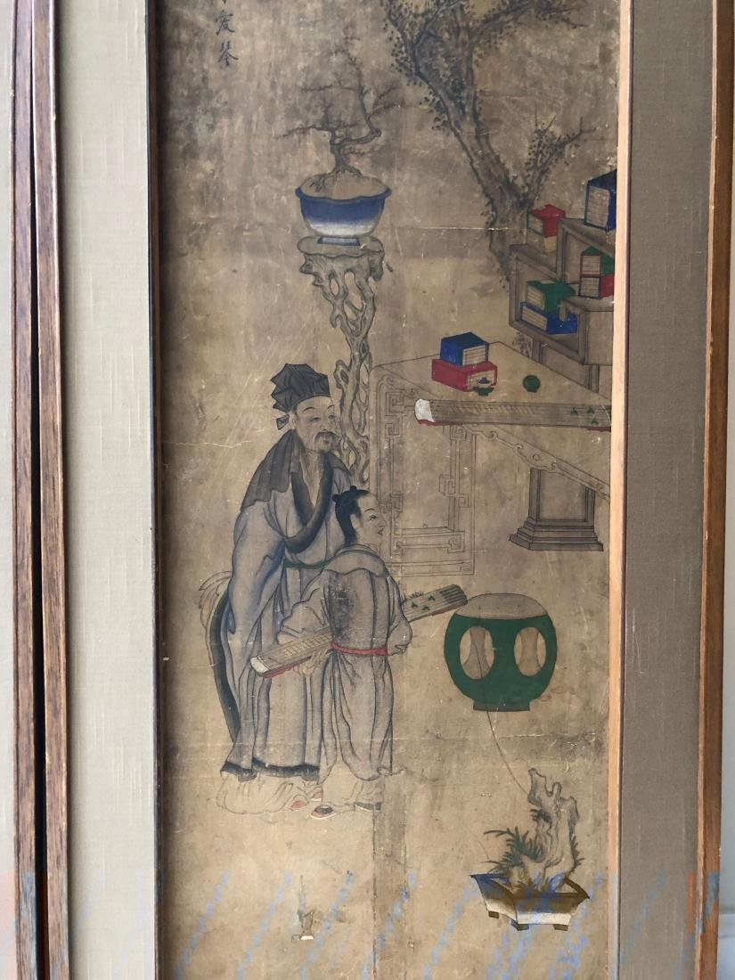 A PAIR OF CHINESE  ANTIQUE PAINTING - 2