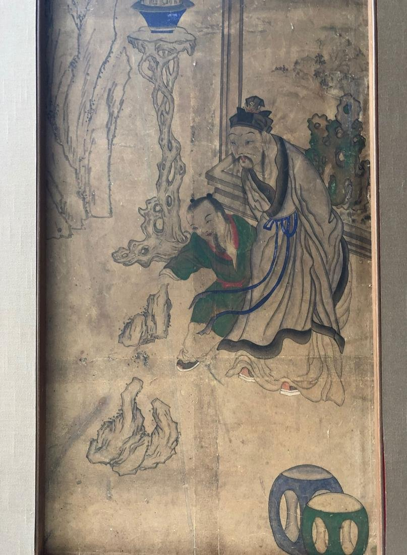 A PAIR OF CHINESE  ANTIQUE PAINTING - 5