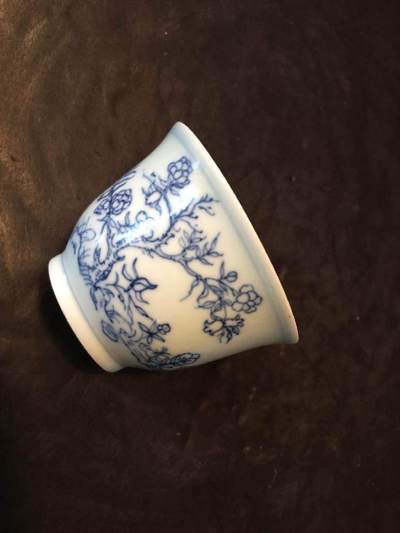 ANTIQUE Chinese Blue and White Cup, Kangxi mark - 7