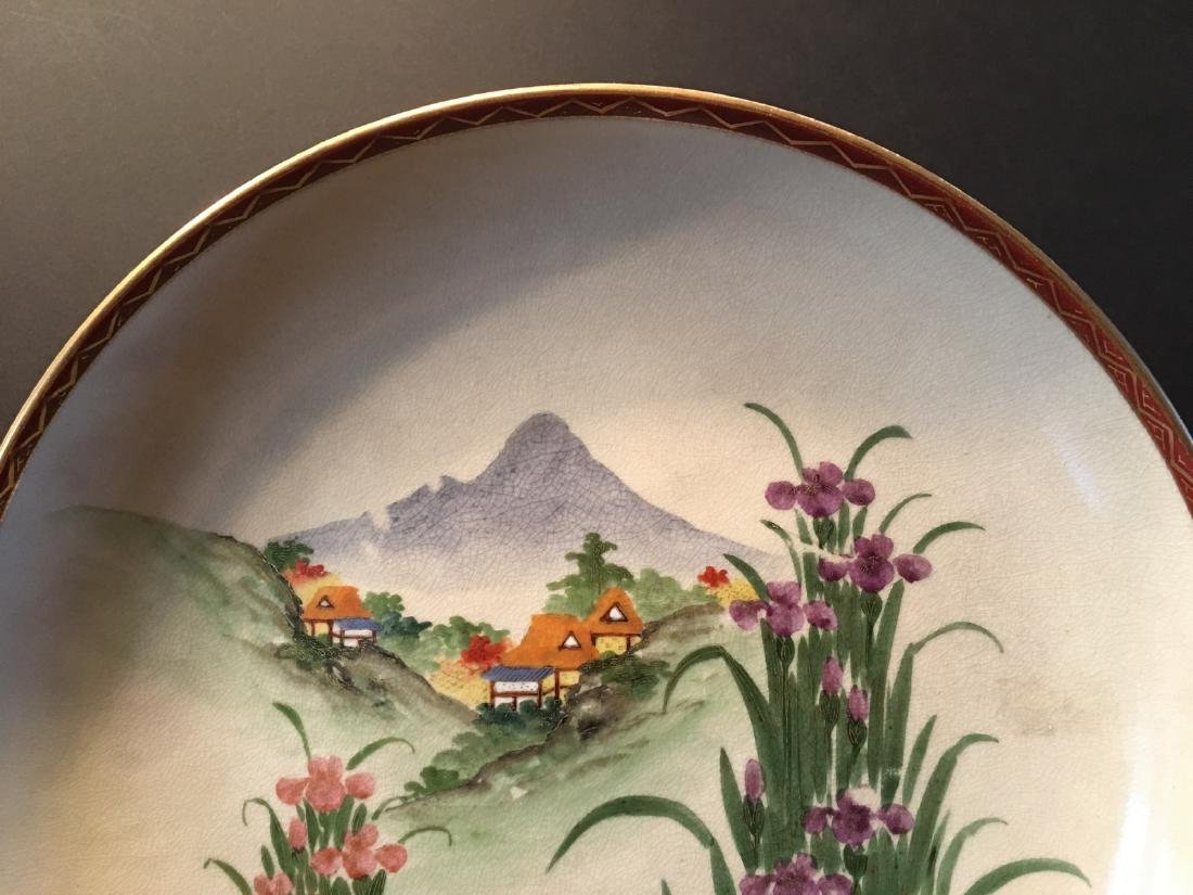 ANTIQUE Japanese Large Satsuma Charger with Landscapes, - 2