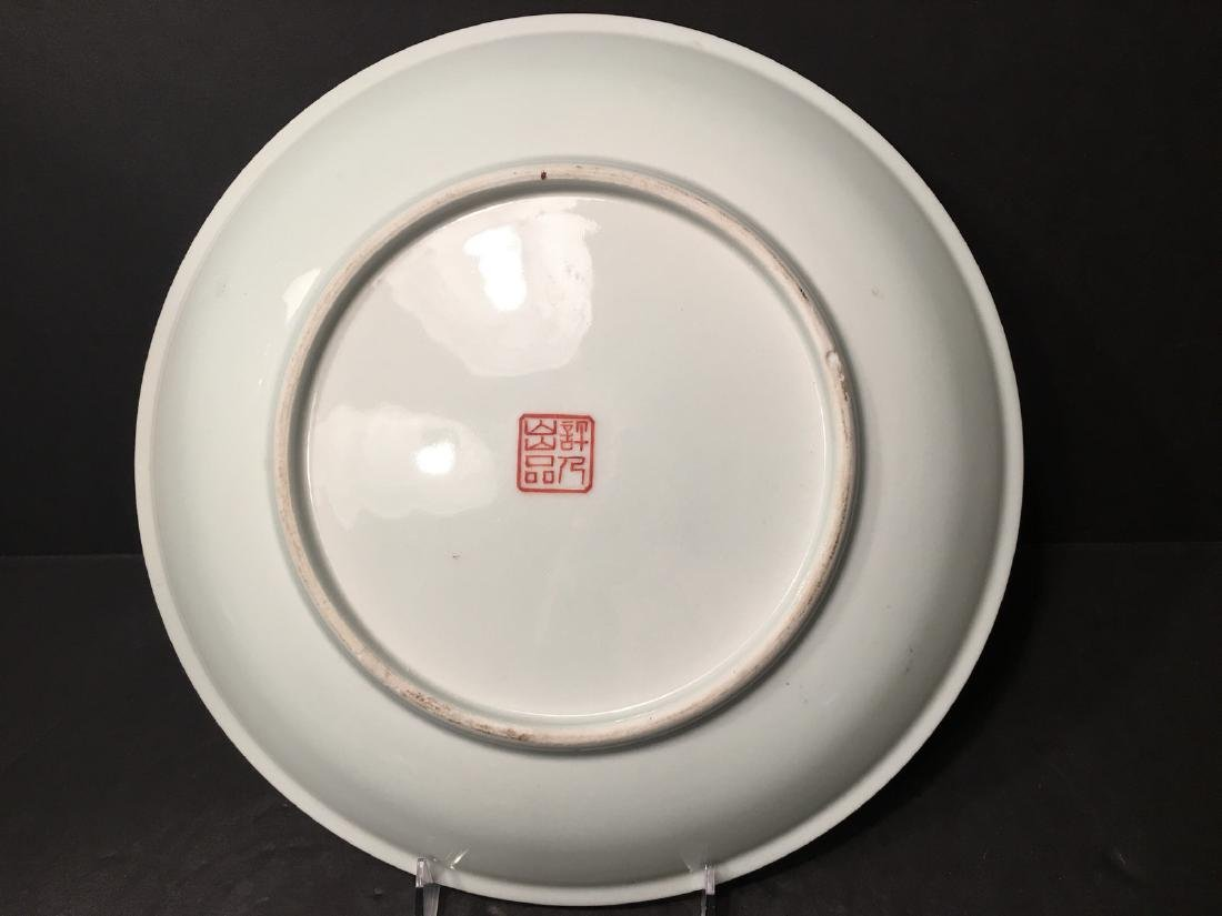 OLD Chinese Snow Scenery Plate, Republic. He Xuren - 9
