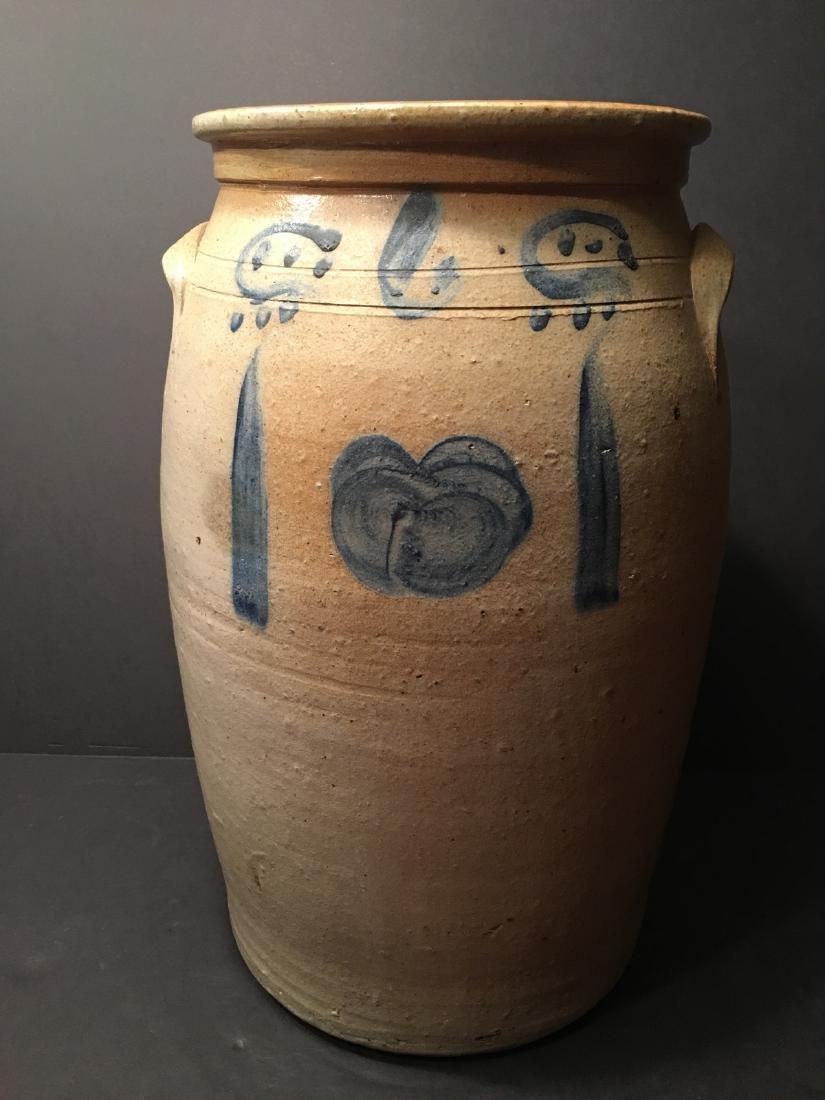 ANTIQUE Large Six gallon stoneware churn Crock, 19th