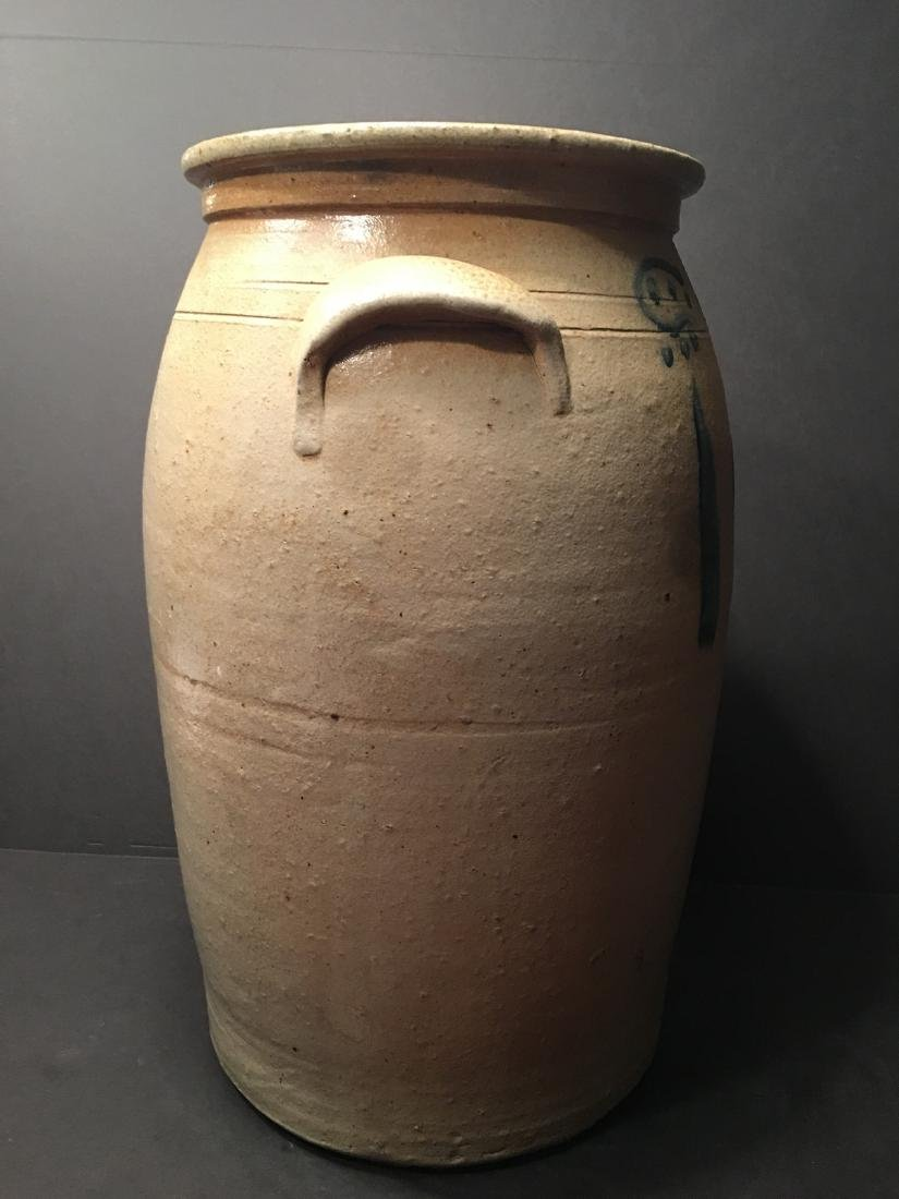 ANTIQUE Large Six gallon stoneware churn Crock, 19th - 2
