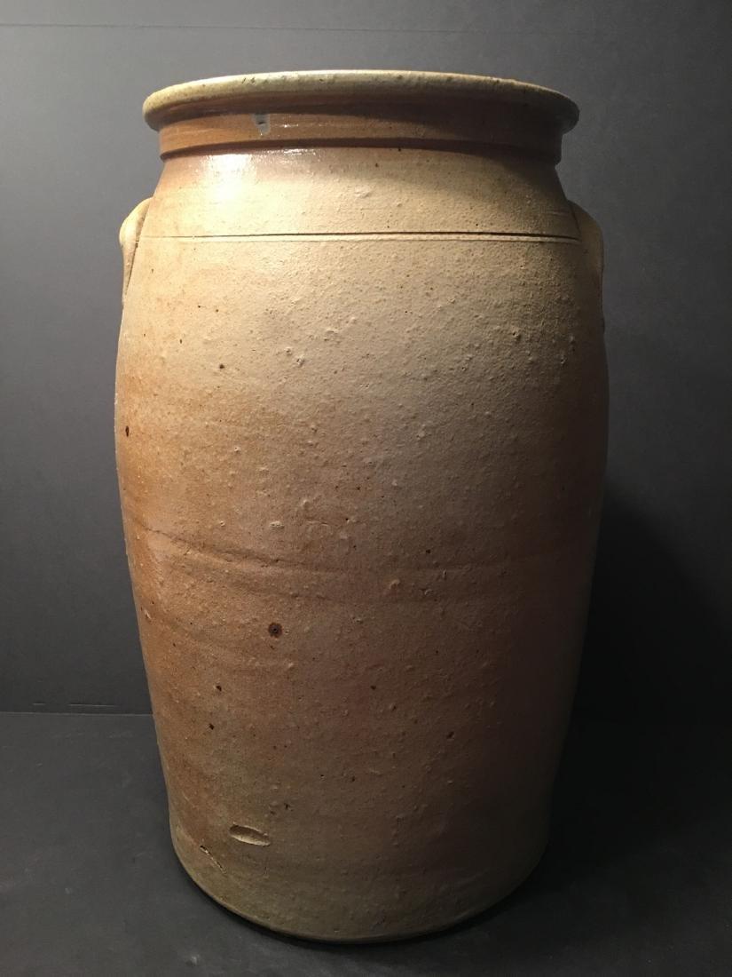 ANTIQUE Large Six gallon stoneware churn Crock, 19th - 3