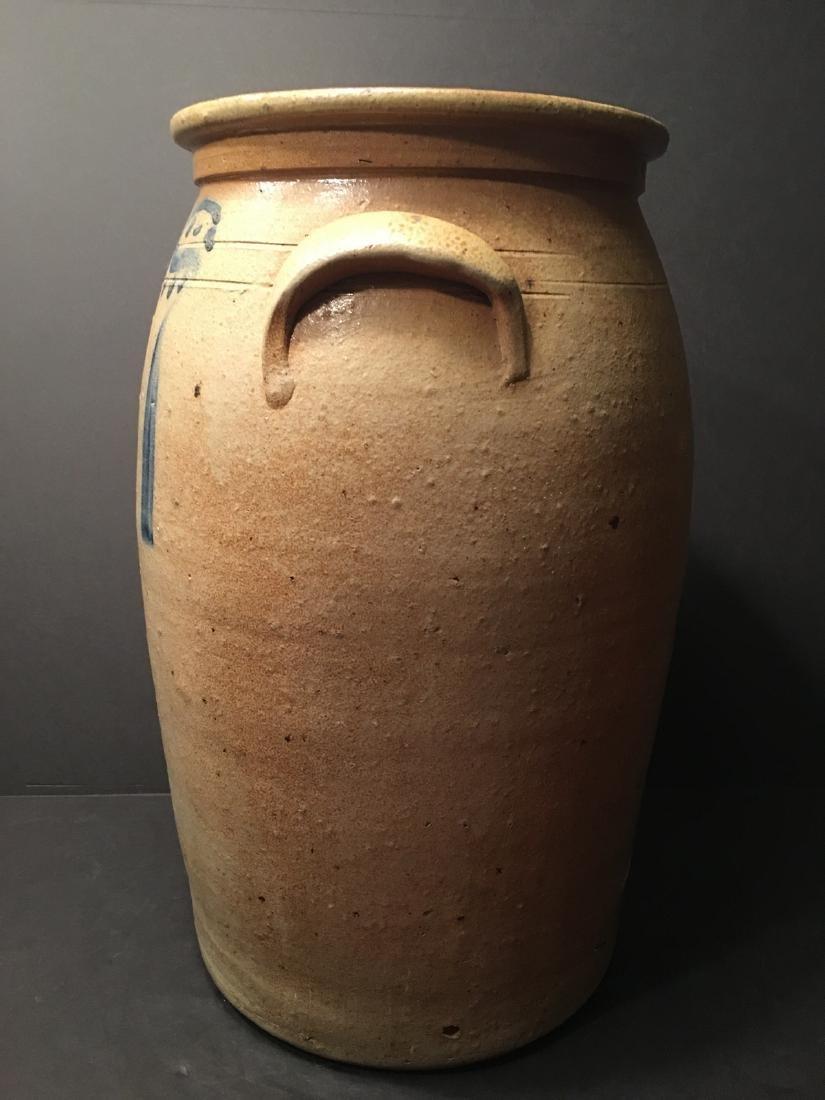 ANTIQUE Large Six gallon stoneware churn Crock, 19th - 4