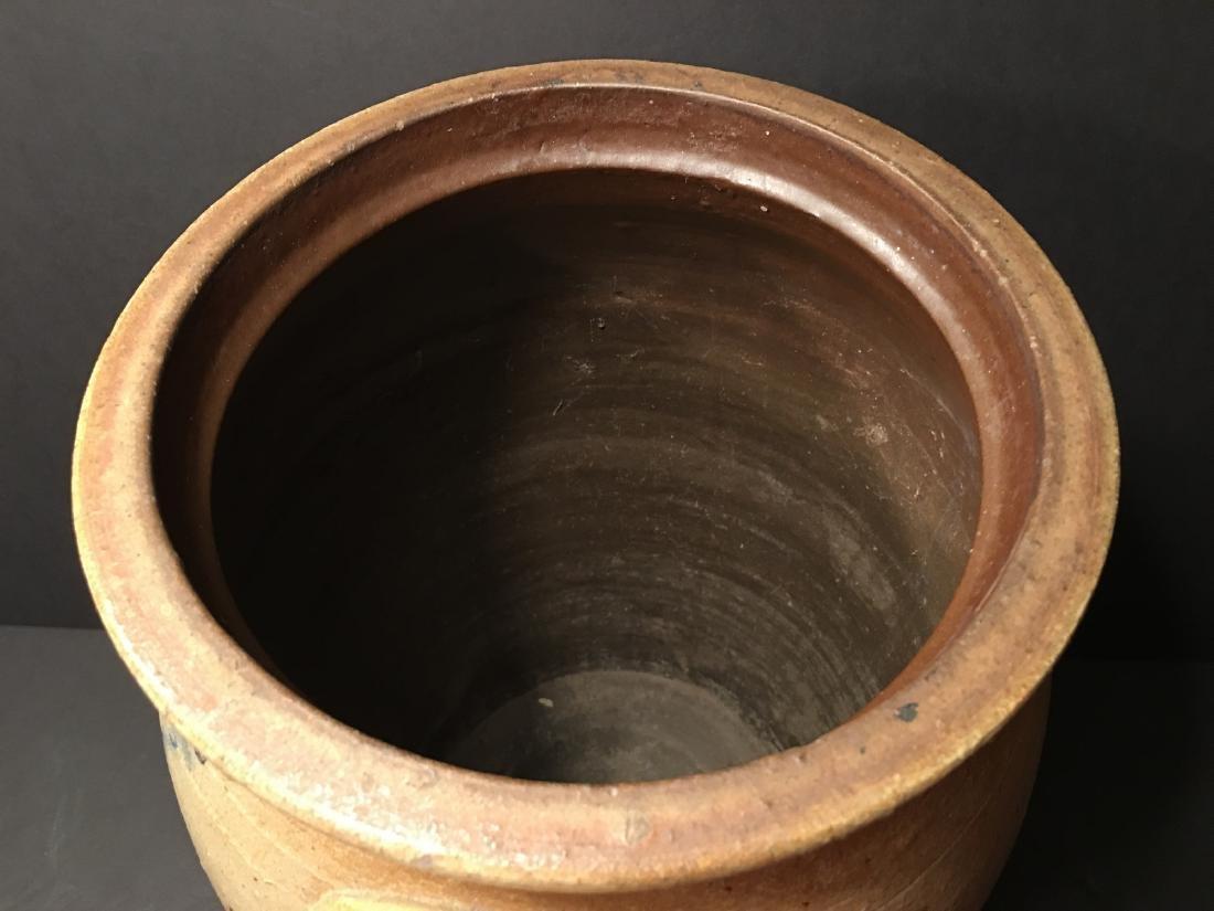 ANTIQUE Large Six gallon stoneware churn Crock, 19th - 5