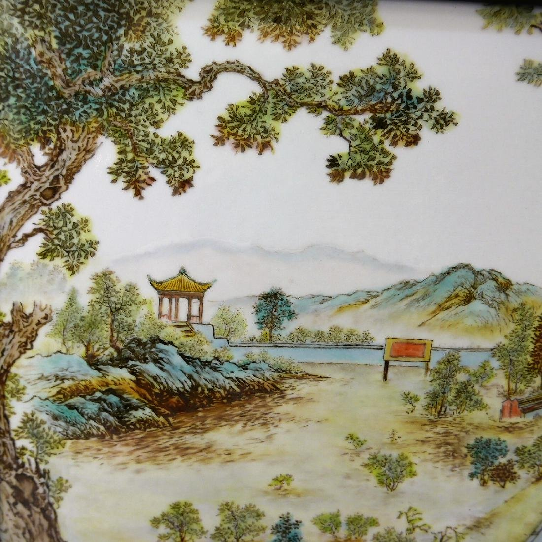 CHINESE FAMILLE ROSE PORCELAIN PLAQUE - ZHAN CHANGBIN - 6