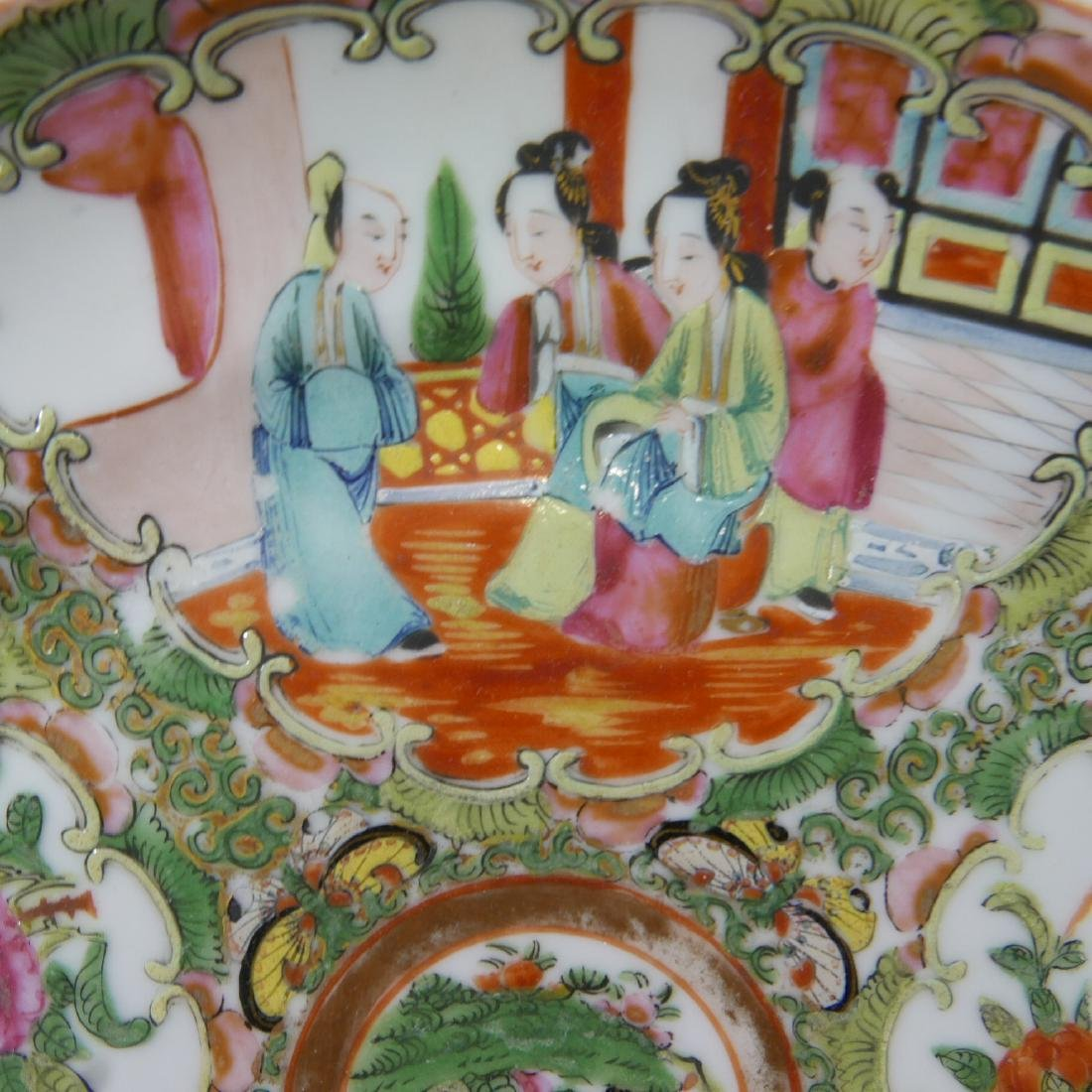 CHINESE ANTIQUE ROSE MEDALLION PLATE - 4