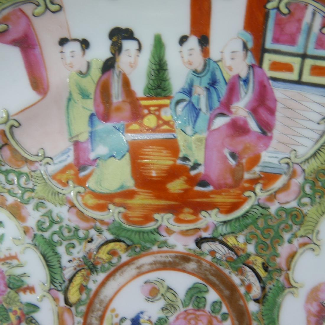CHINESE ANTIQUE ROSE MEDALLION PLATE - 5