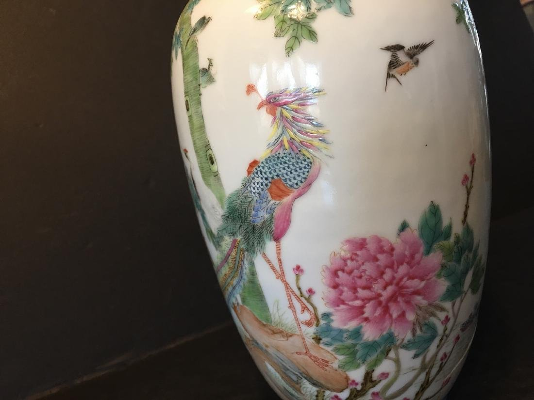 Old Chinese famille Rose Vase, Republic Period - 4