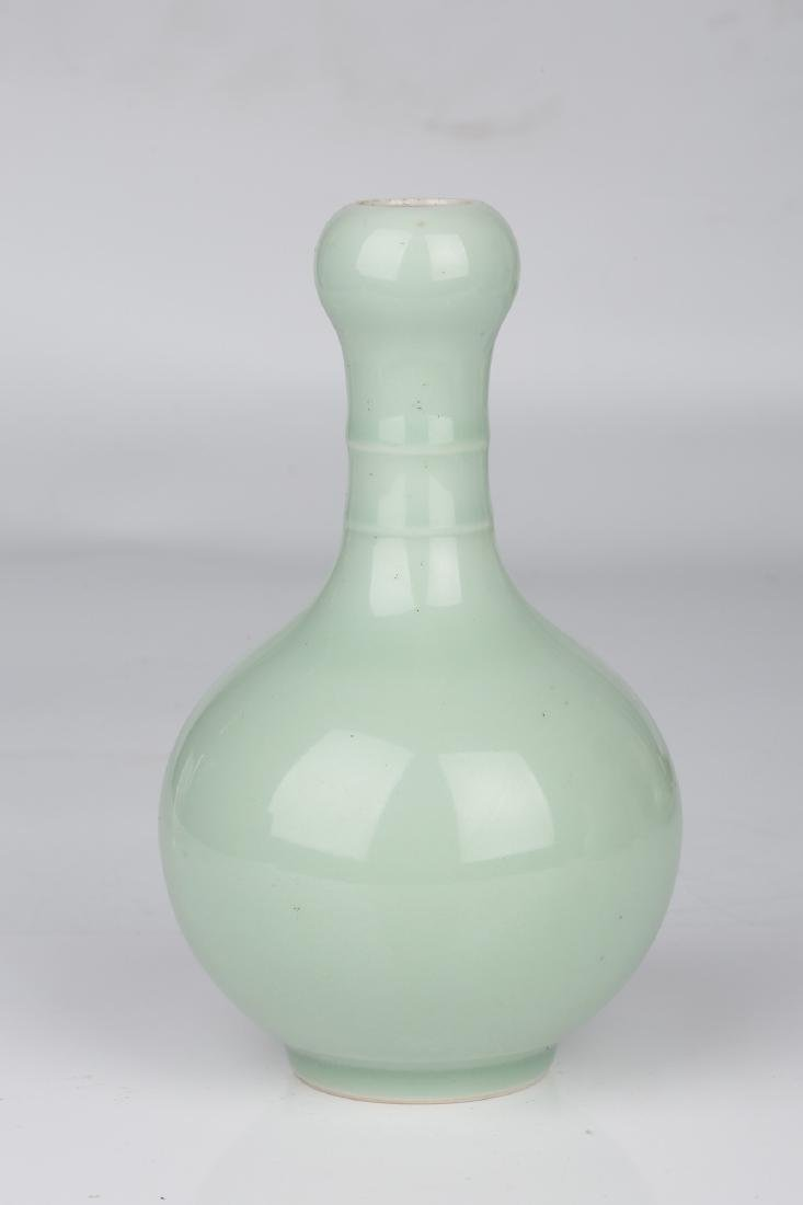 Chinese celadon porcelain vase, Qianlong mark.