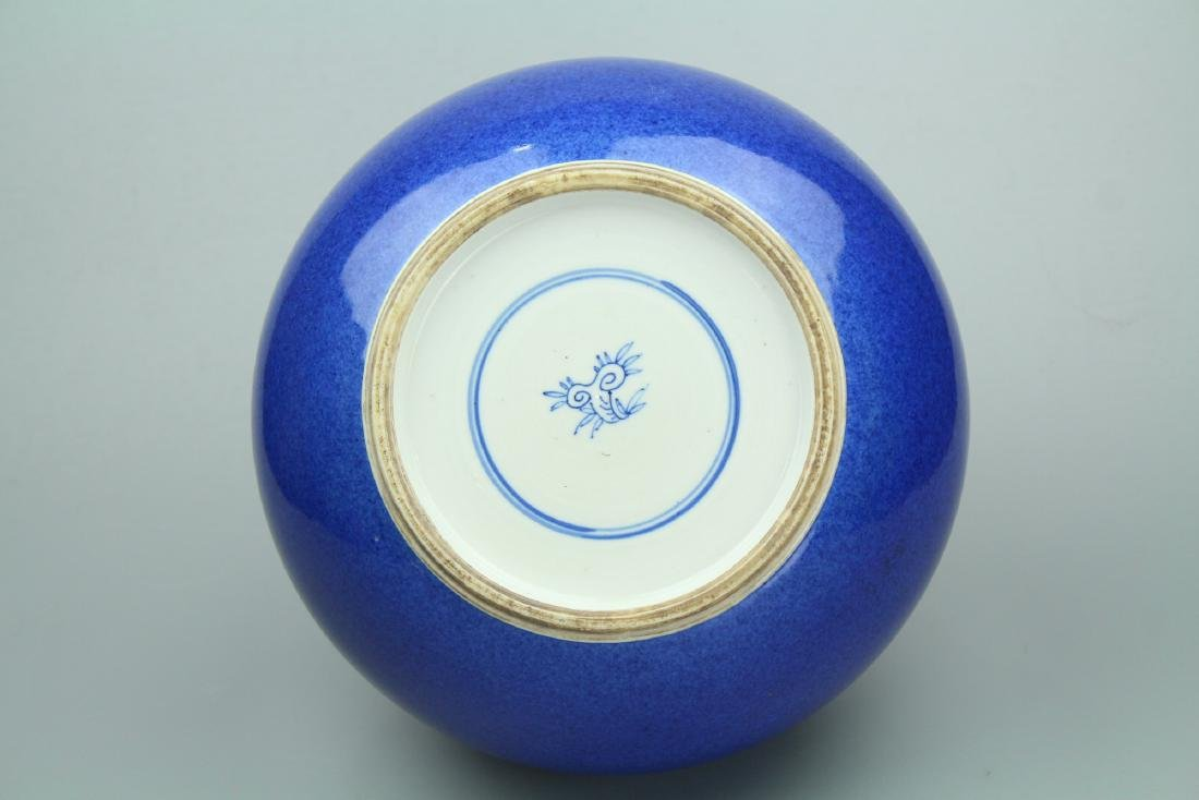 Chinese powder blue porcelain jar. - 7