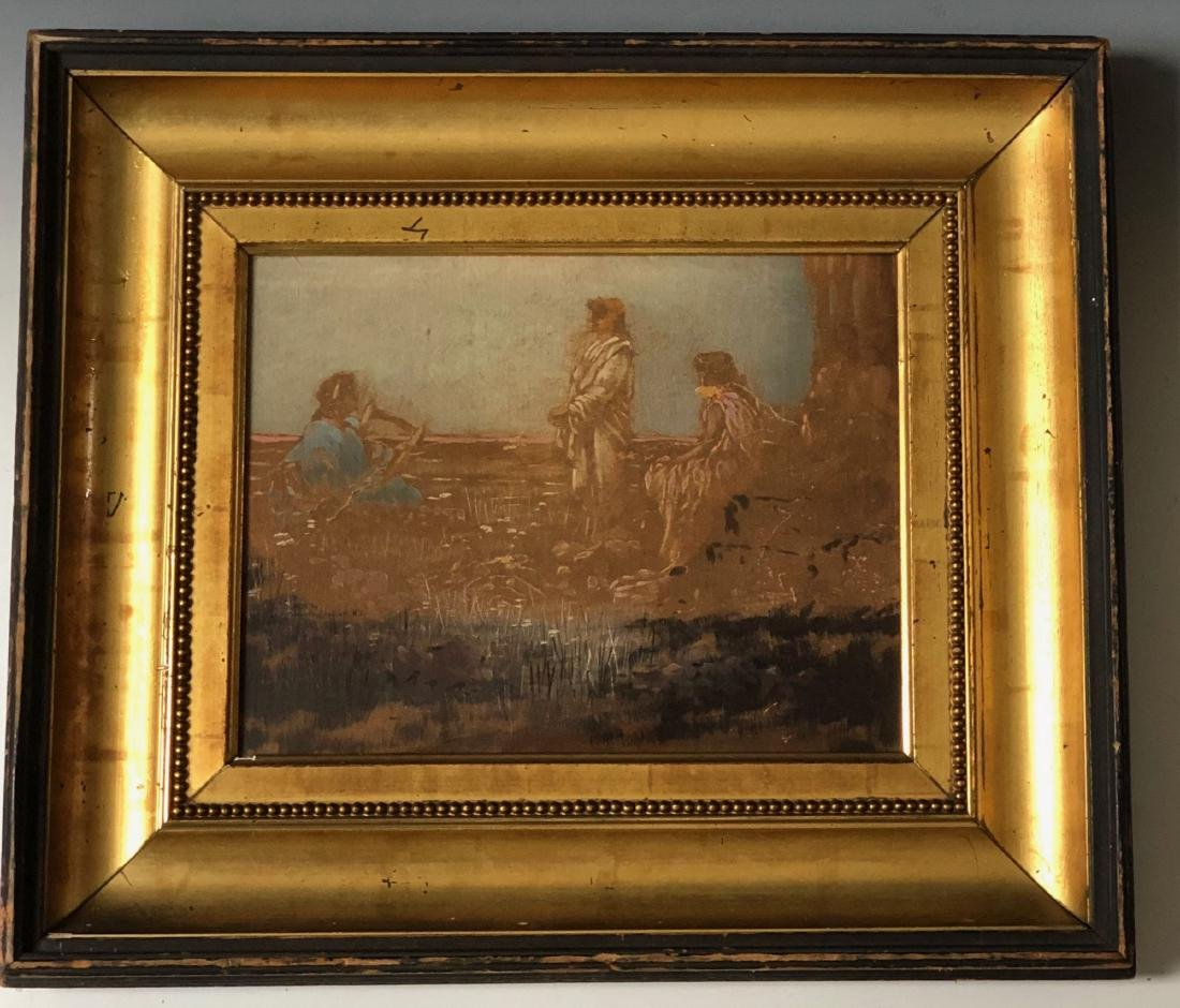 Antiques Heydenryk Style Frame For Painting 18 X 14 Inch